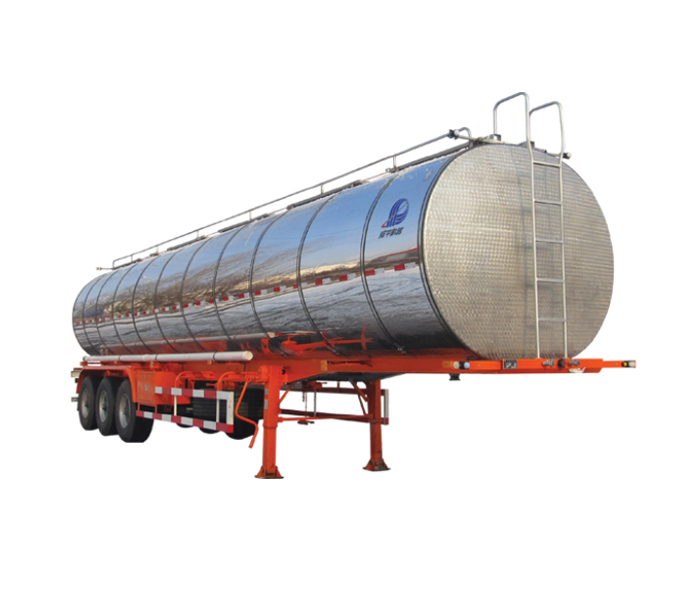 Liquid food tanker semi-trailer