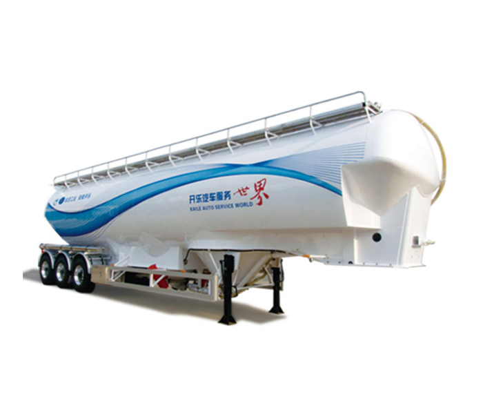 Vertical powder transport tanker semi-trailer