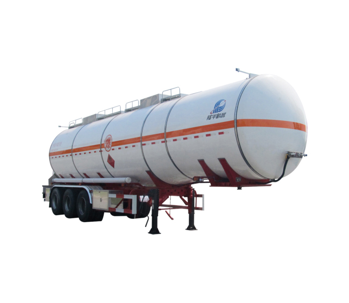 Flammable liquid tanker semi-trailer