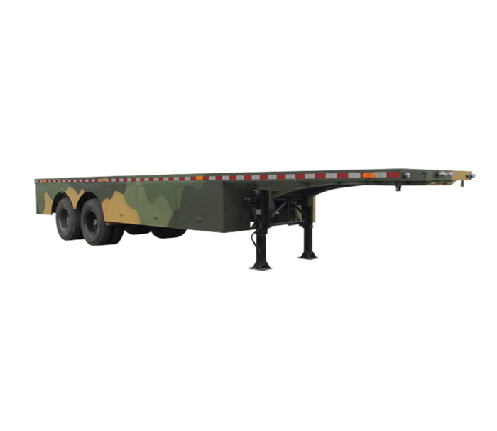 Platform transport semi-trailer