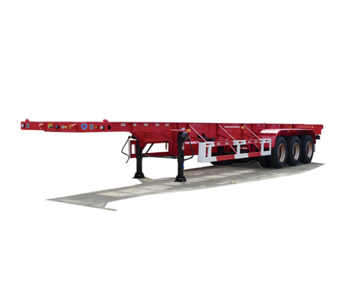 Container transporter semi-trailer