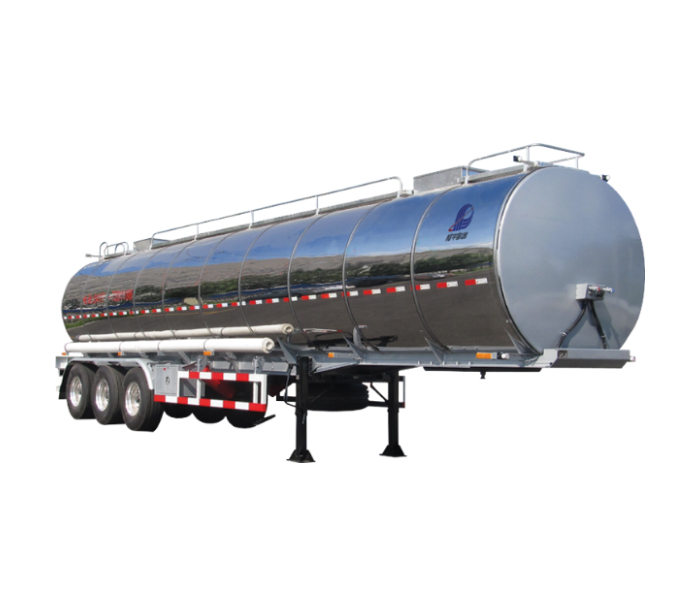 Aluminium alloy oil tanker semi-trailer