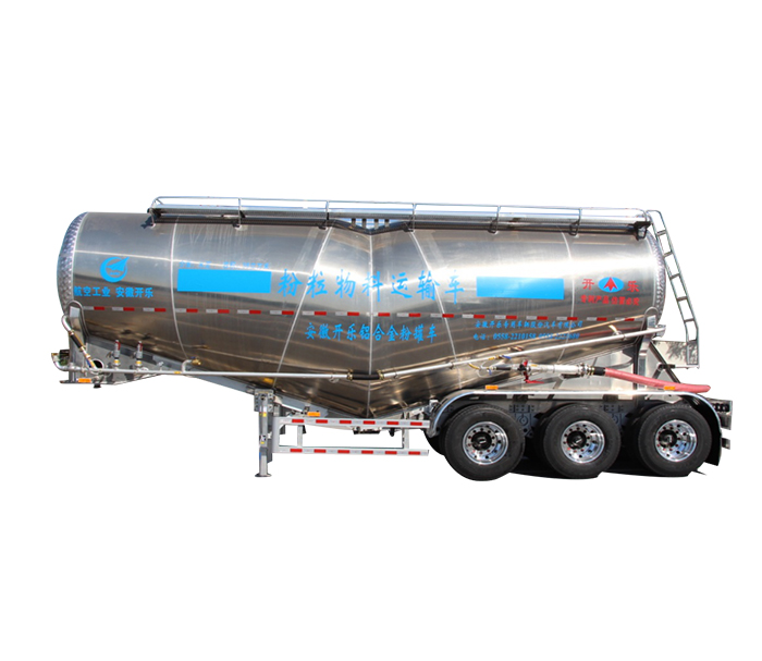 Aluminum alloy powder tanker semi-trailer