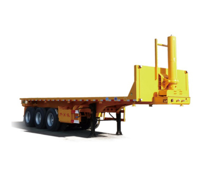 Dump transport semi-trailer