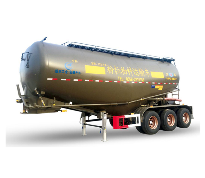 Horizontal powder tank semi - trailer ( single  cabin )
