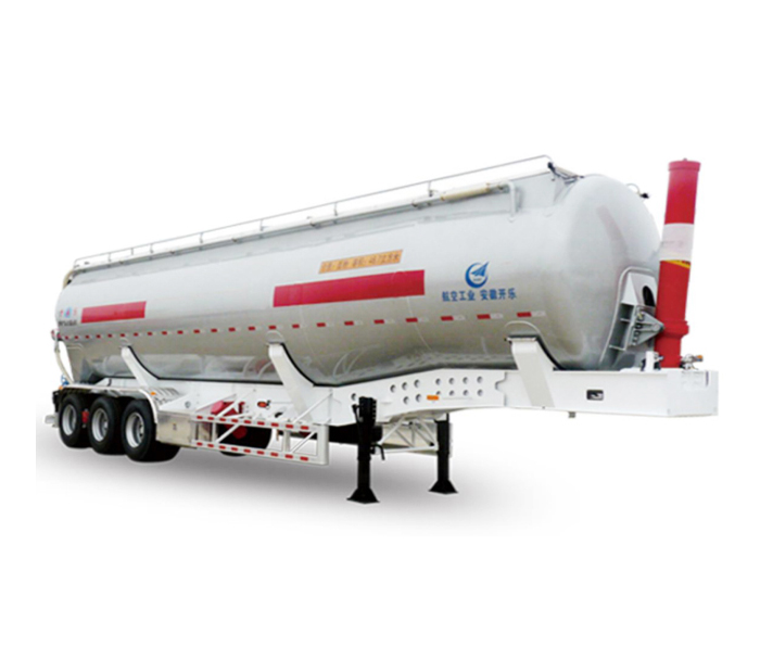 Lifting powder transport tanker semi-trailer
